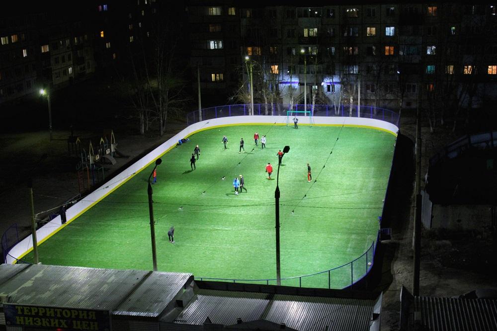 Построенный по гранту РУСАЛа хоккейный корт открылся в Шелехове