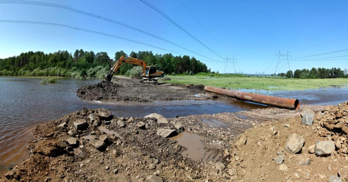 РУСАЛ восстанавливает в Тайшетском районе размытые паводком дороги